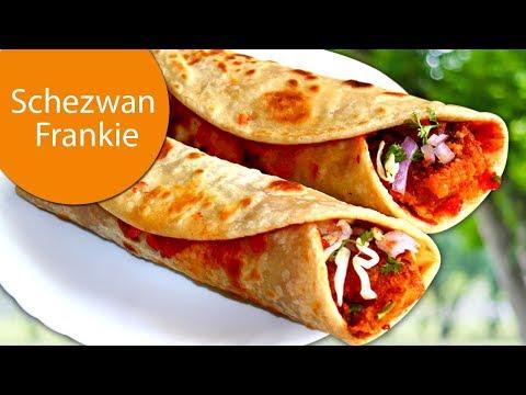 Spicy Schezwan Frankie | Street Style Veg Schezwan Aloo Franky Roll Recipe | Madhuras | Ep - 646