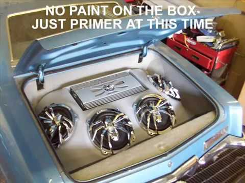 CUSTOM FIBERGLASS BOX IN A CUSTOM TRUNK CAR AUDIO