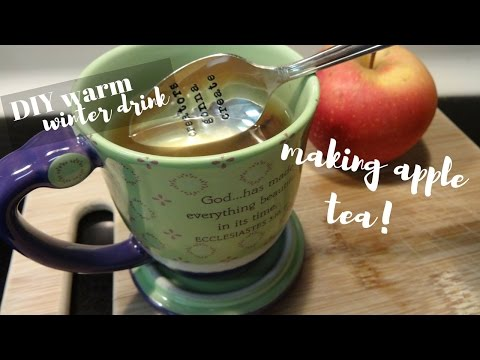 Making Homemade and Healthy Apple Tea for the Winter!