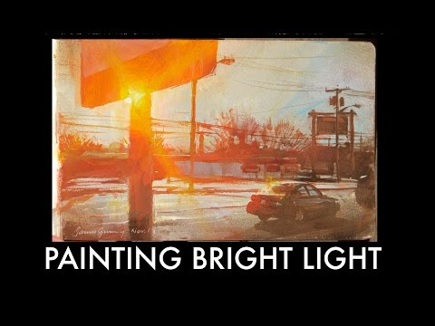How to Paint a Bright Light Effect