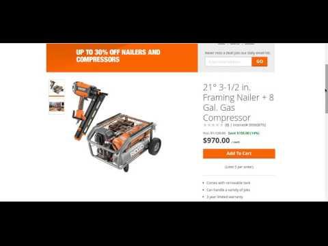 Ridgid Gen5x 1 Gal 18 Volt Air Compressor R0230 Review