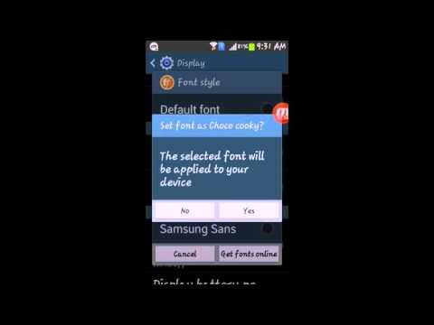 How to change Font and Font size in samsung smartphones