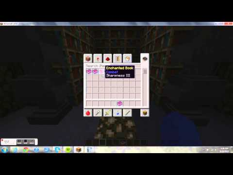 minecraft:how to make enchantment books and make a better enchant