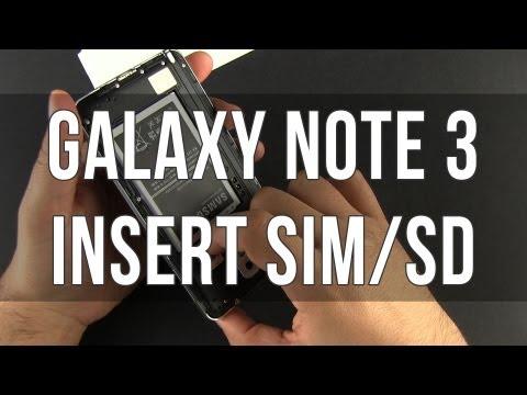How to insert micro SIM / microSD on Samsung Galaxy Note 3