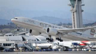 Etihad Airways Boeing 777-200LR [A6-LRE] (Fast & Furious 7 Livery) Takeoff From LAX