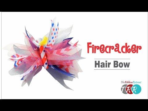 How to Make a Firecracker Spike Bow - TheRibbonRetreat.com