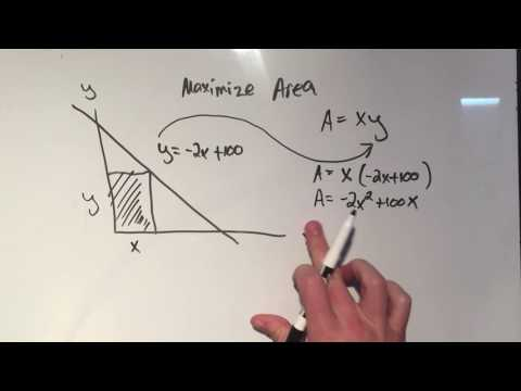 Optimization: Area of a Rectangle inside a Triangle
