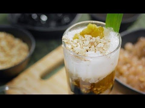 Ginumis (Filipino shaved ice dessert)