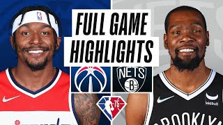 WIZARDS at NETS   FULL GAME HIGHLIGHTS   October 25, 2021