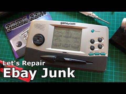 Let's Repair - Ebay Junk - Tiger Game.Com Handheld - LCD Lament