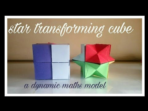 Star transforming cube | maths working model