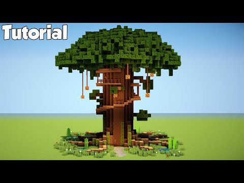 Biggest Minecraft Tree House Tutorial - How to Build a House in Minecraft