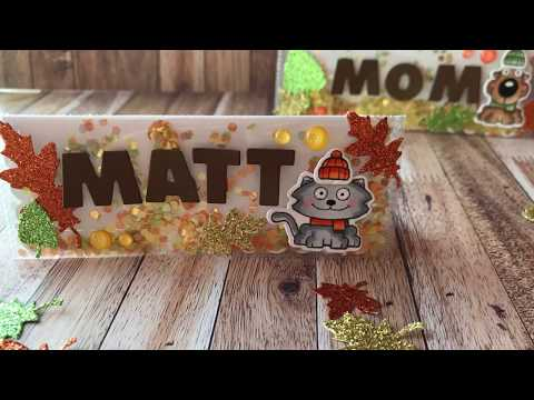 How To Make Fall Shaker Place Cards | Your Next Stamp | Stamp Create Repeat