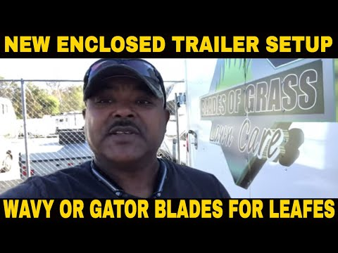 New enclosed trailer setup/Lawn care company owner Sunday morning pre check