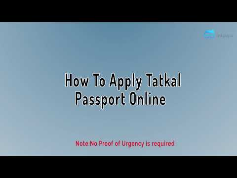 How to apply Passport in Tatkal shortest Video?