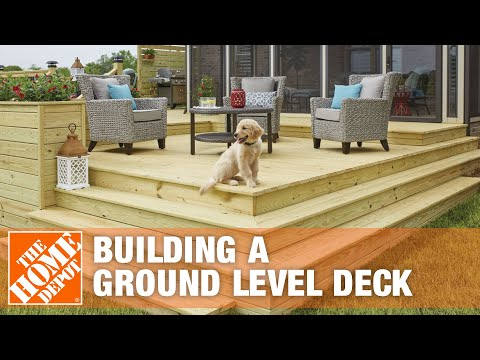 How to Build a Ground-Level Deck