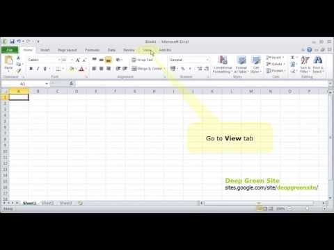 MS Excel 2010 / How to freeze first row/column of worksheet