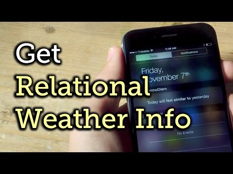 Get Weather Forecasts on Your iPhone for Today Based on How It Felt Yesterday [How-To]