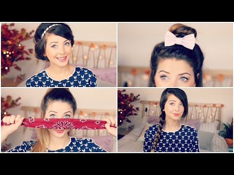 How To Quick  Easy Hair Styles  Zoella