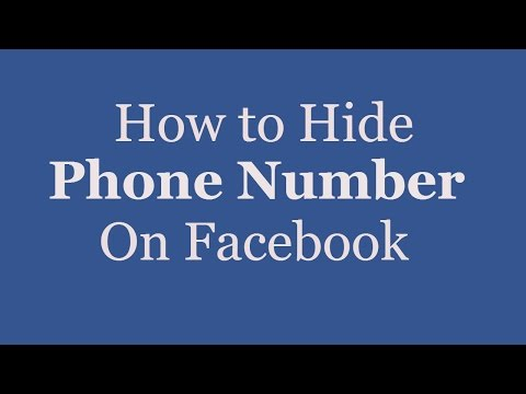 How to Hide Your Phone Number on Facebook