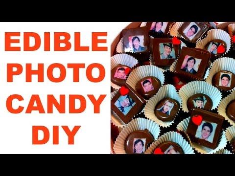 How To: Edible Photo Chocolates || DIY Chocolate