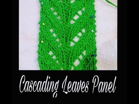 Cascading Leaves Knitting Stitch Pattern - Lace Knitting Video Tutorial
