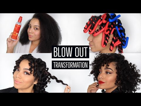 Blow Out Transformation feat. Creme of Nature | Natural Hair