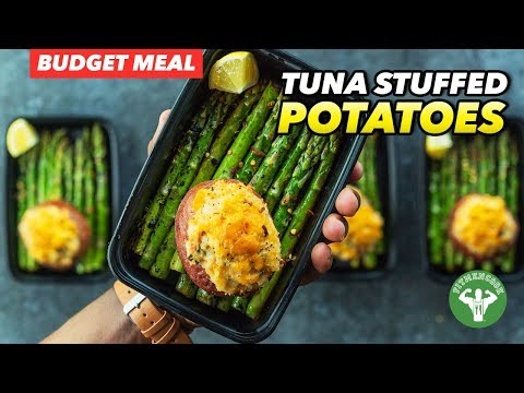 Budget Meal Prep - Tuna Stuffed Red Potatoes