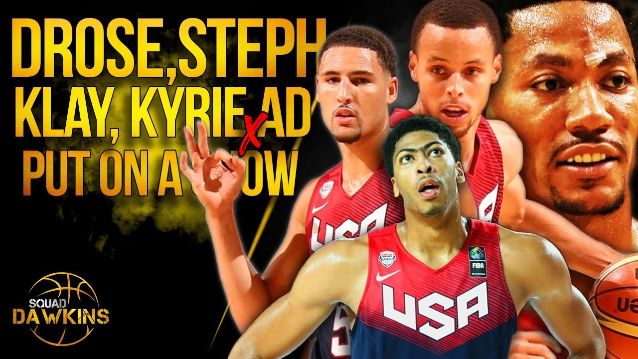 D-Rose, Steph, Klay, Kyrie, AD x 2014 Team USA Put On A Show vs Brasil in Chicago | SQUADawkins