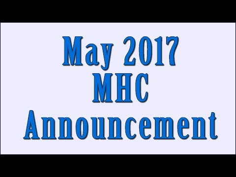 May 2017 MHC Announcement
