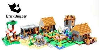 Lego Minecraft 21128 The Village - Lego Speed Build