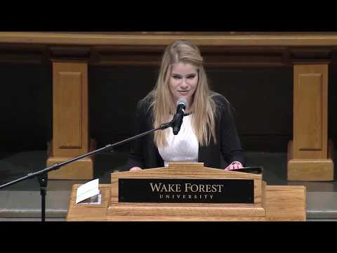 2017 WFU Founders Day Convocation