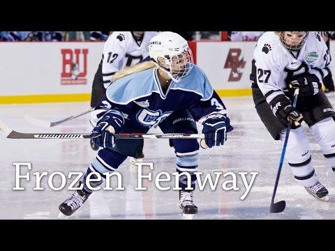 Conn College Women's Hockey Team at Frozen Fenway