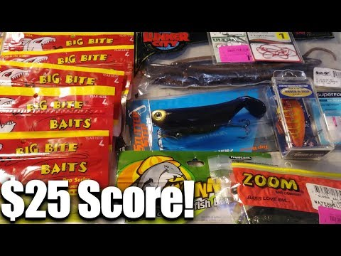 $25 Fishing Lures Shopping Challenge! What fishing lures do I get?