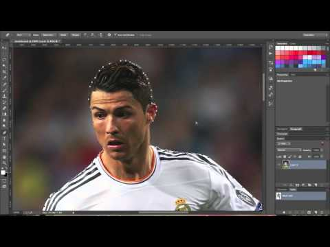 How to remove and change the background in Photoshop tutorial