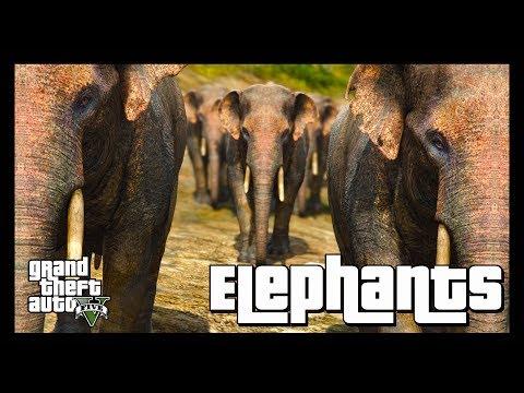 GTA 5 Wildlife Documentary | Elephants