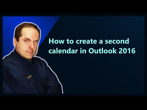 How to create a second calendar in Outlook 2016