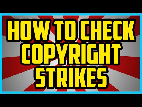 How To Check If You Have Copyright Strikes 2016 On Youtube (QUICK & EASY)