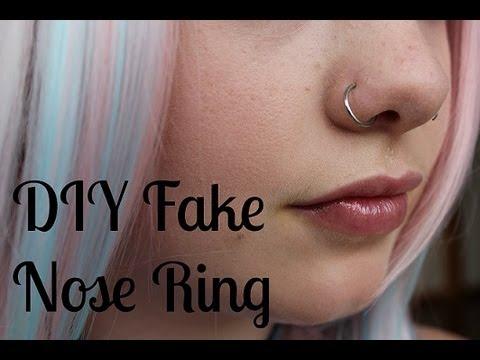 DIY How to Make a Fake Nose Ring
