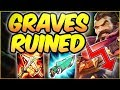 AD GRAVES GUTTED BYE 3 AD HELLO FULL AP GRAVES GRAVES TOP SEASON 8 GAMEPLAY League Of Legends