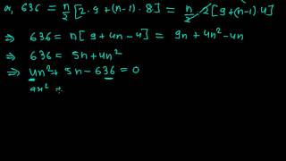 How to find the Number of Terms of an Arithmetic Sequence from Sum of N terms Formula