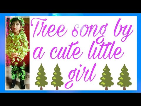 Tree song and tree getup for kid(in fancy dress competition)