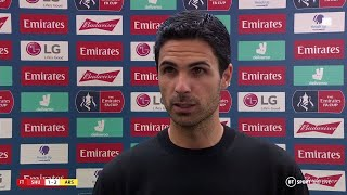"""We will get it right. We just need a little time."" Mikel Arteta reacts as Arsenal reach FA Cup semi"