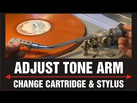 How to set turntable tone arm diect drive Pioneer PL-400 demo