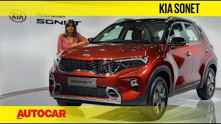 2020 Kia Sonet - Kia's next big thing | First Look | Autocar India