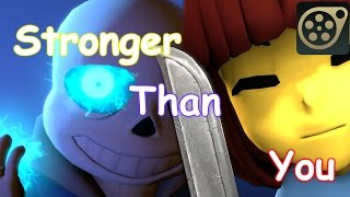 [SFM Undertale] Stronger Than You - Battle with Sans (3D animation)