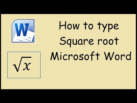 How to type Square Root in Microsoft Word 2010