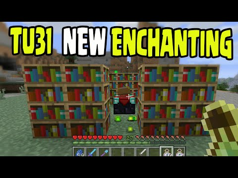 Minecraft PS3, PS4, Xbox, Wii U - TITLE UPDATE 31 NEW ENCHANTING TUTORIAL (1.8)