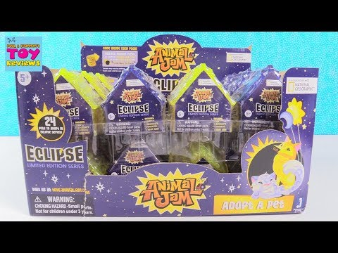 Animal Jam Eclipse Adopt A Pet Limited Edition Series Toy Review | PSToyReviews