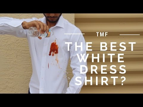 Could This Be The Best White Dress Shirt? (It's Stain & Water Resistant!)
